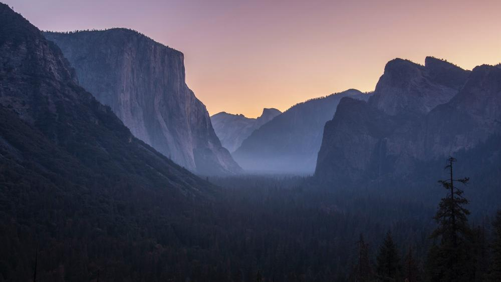 Yosemite Tunnel View, Yosemite Valley wallpaper