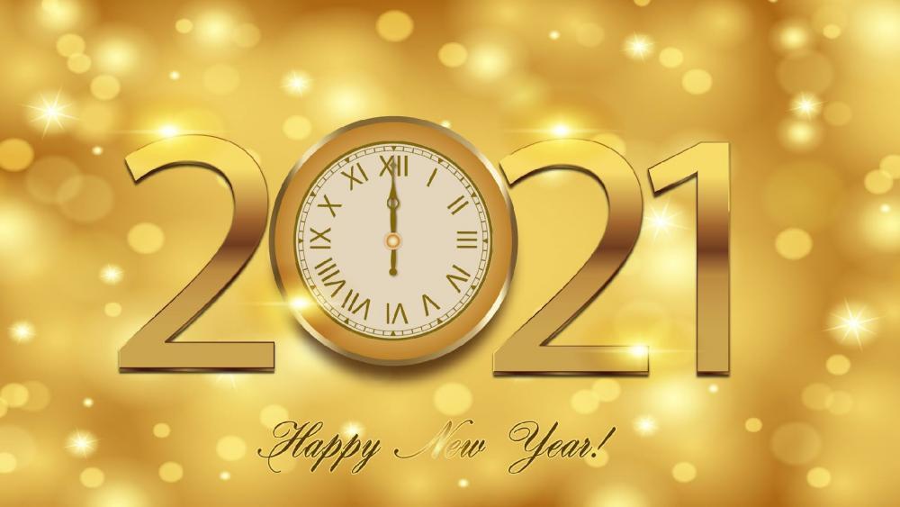 2021 Golden Happy New Year wallpaper