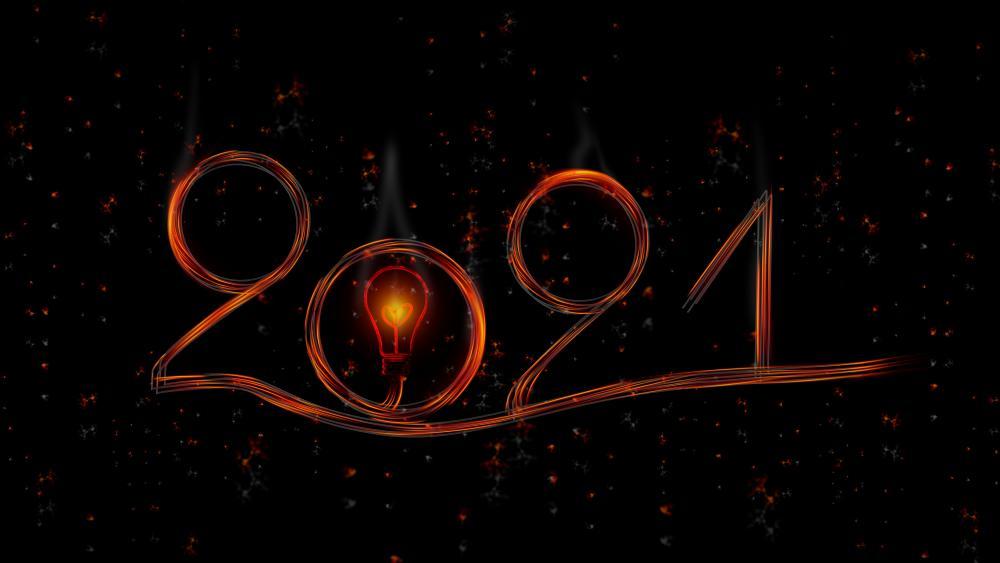 2021 New Year light art wallpaper