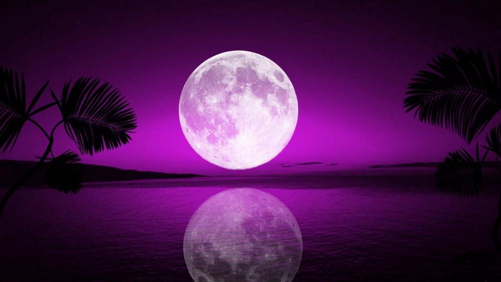 Purple supermoon wallpaper