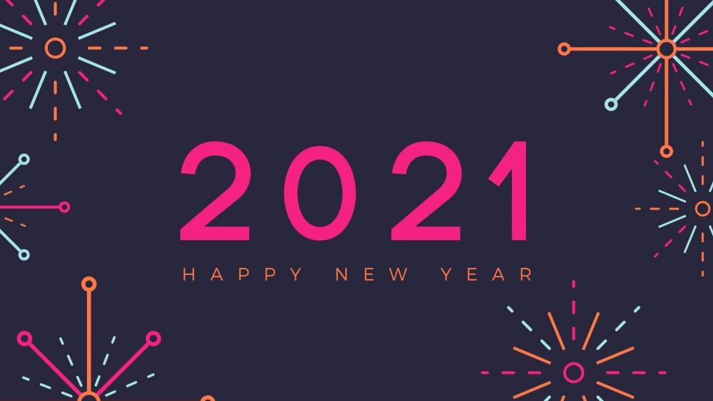 2021 Happy New Year wallpaper