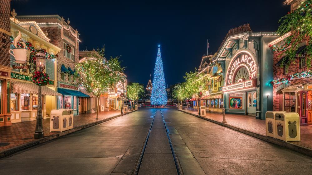 Disneyland at Christmas time wallpaper
