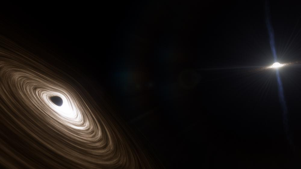 TON 618 & White Dwarf in orbit wallpaper