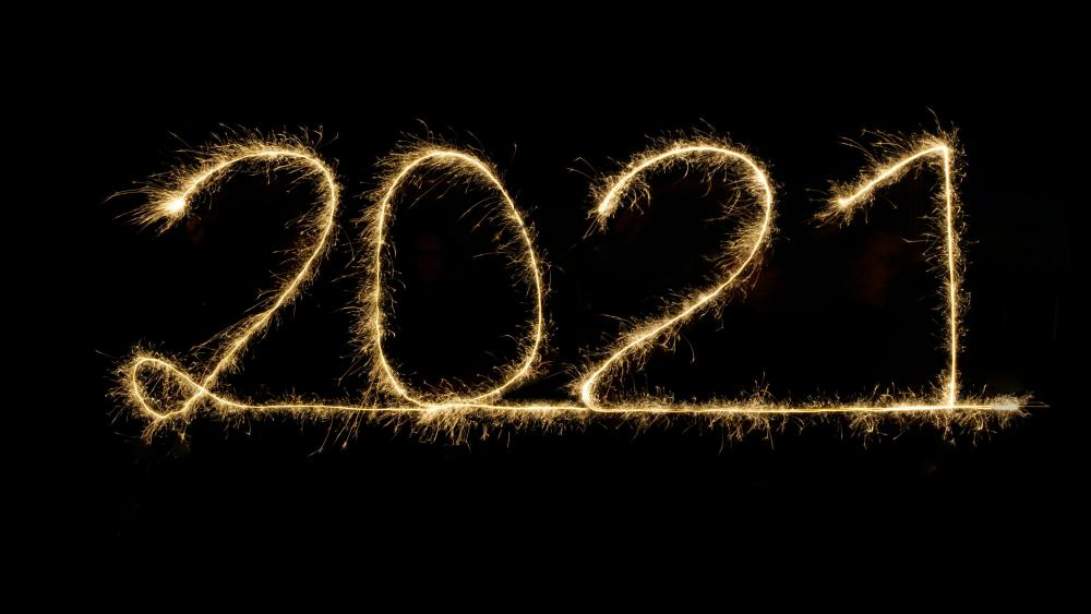 2021 Light drawing wallpaper