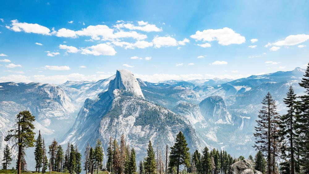 Half Dome from Glacier Point, Yosemite National Park wallpaper