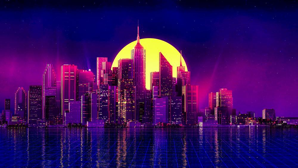 Neon New York wallpaper