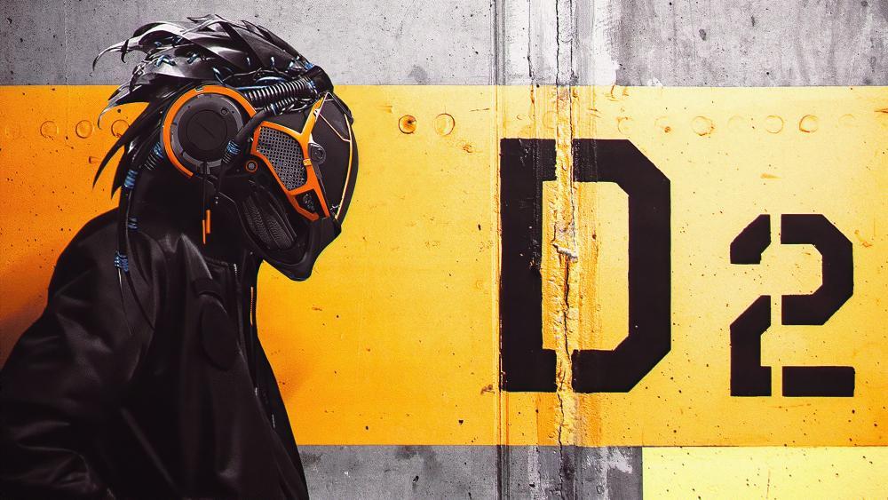 Futuristc helmet wallpaper