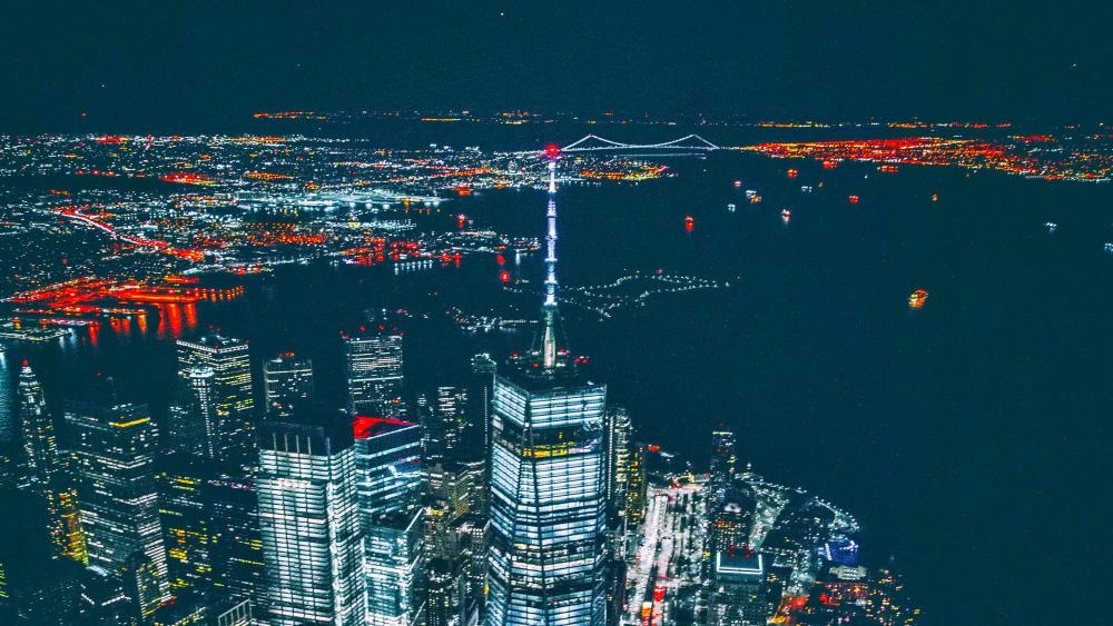 NYC by night wallpaper