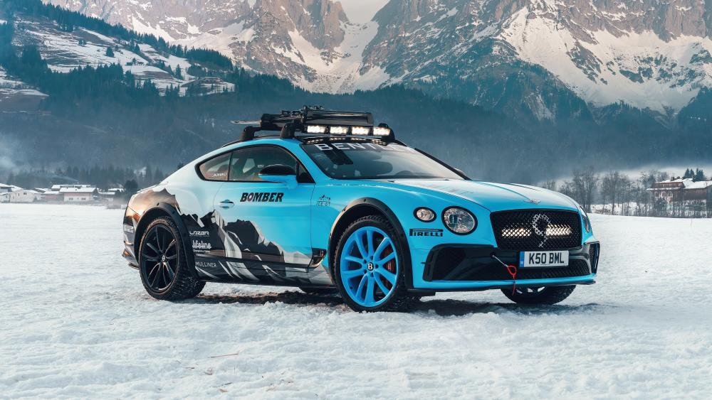 Ice Race Bentley Continental GT wallpaper