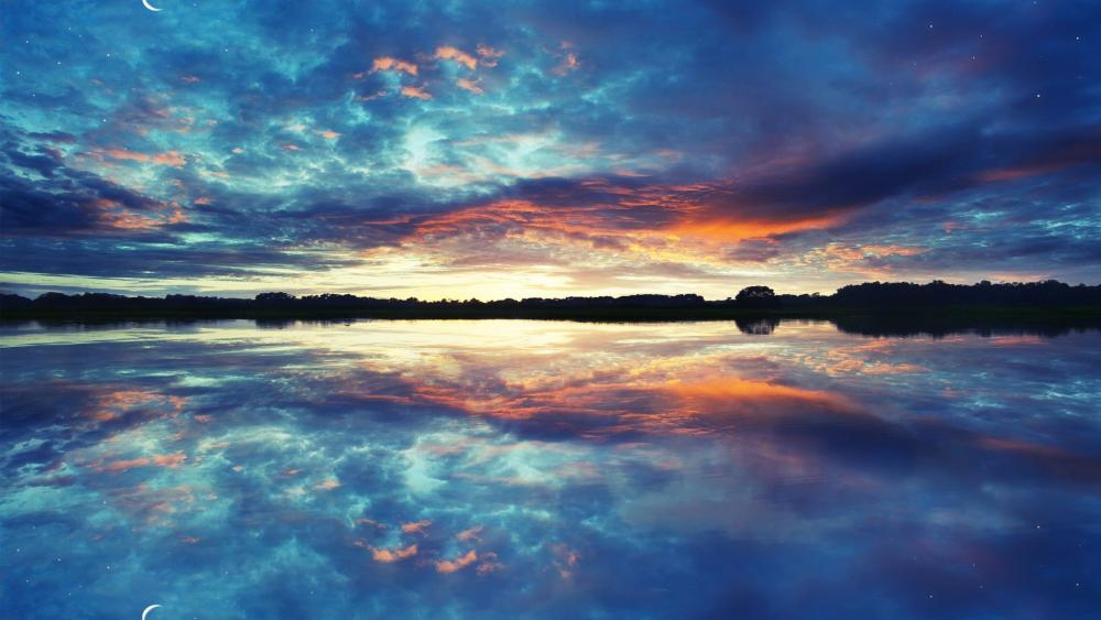 Water reflection wallpaper