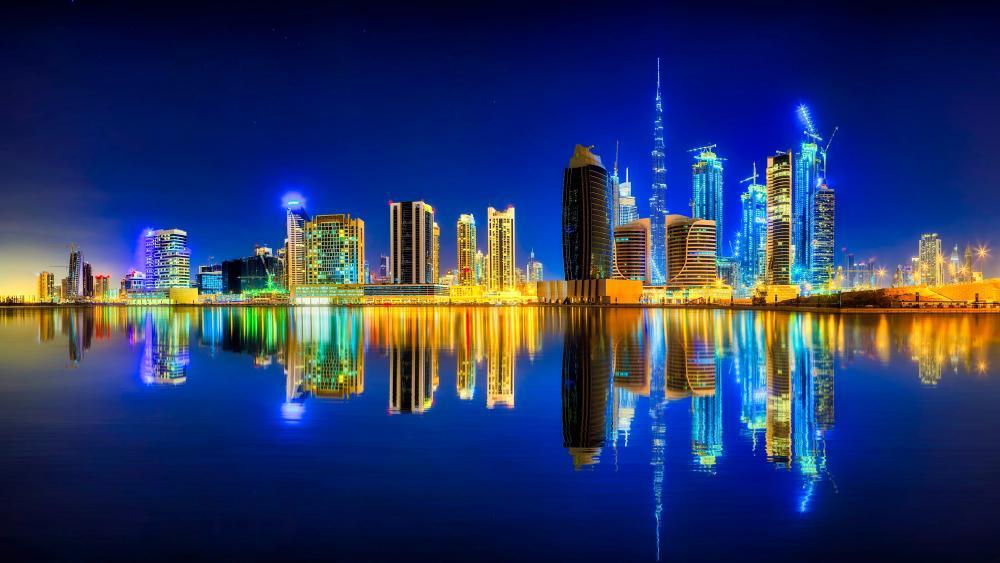 Dubai reflection wallpaper