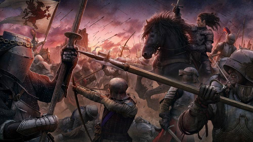 Medieval battle wallpaper