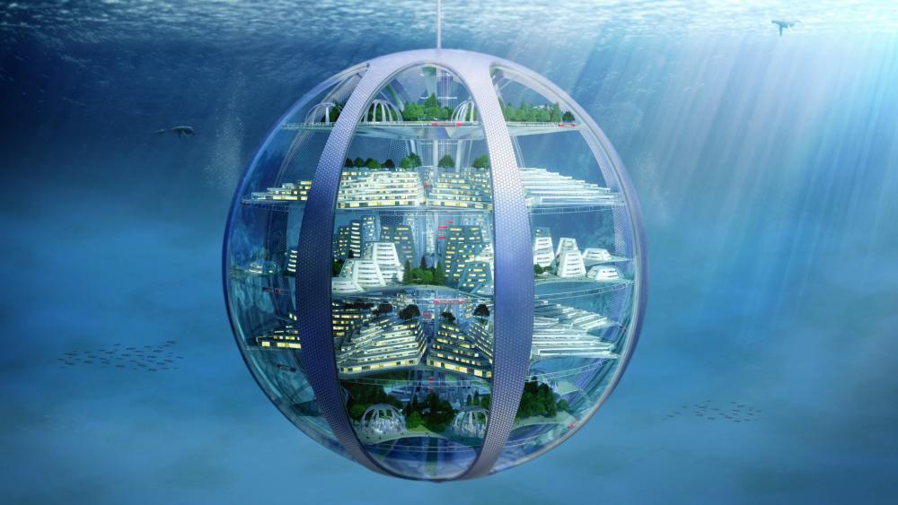Underwater globe wallpaper