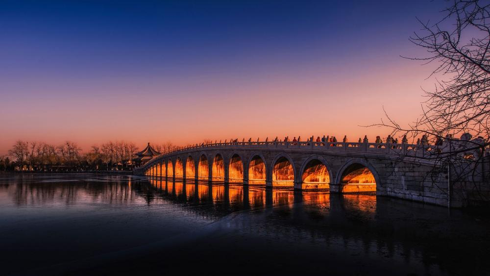 Seventeen-Arch Bridge in Beijing Summer Palace wallpaper