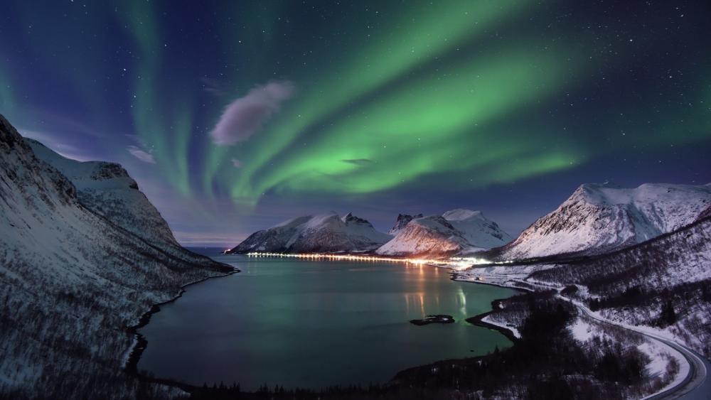 Aurora Polaris from Norway wallpaper