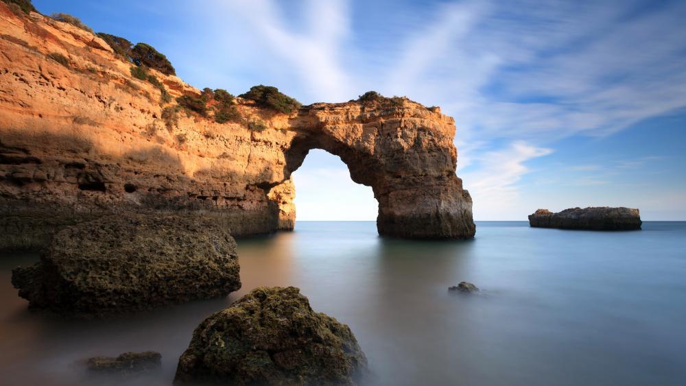 Arco de Albandeira, Praia de Albandeira wallpaper