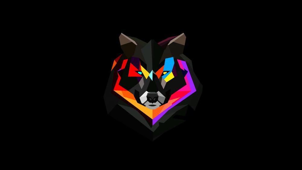 Wolf graphic design wallpaper