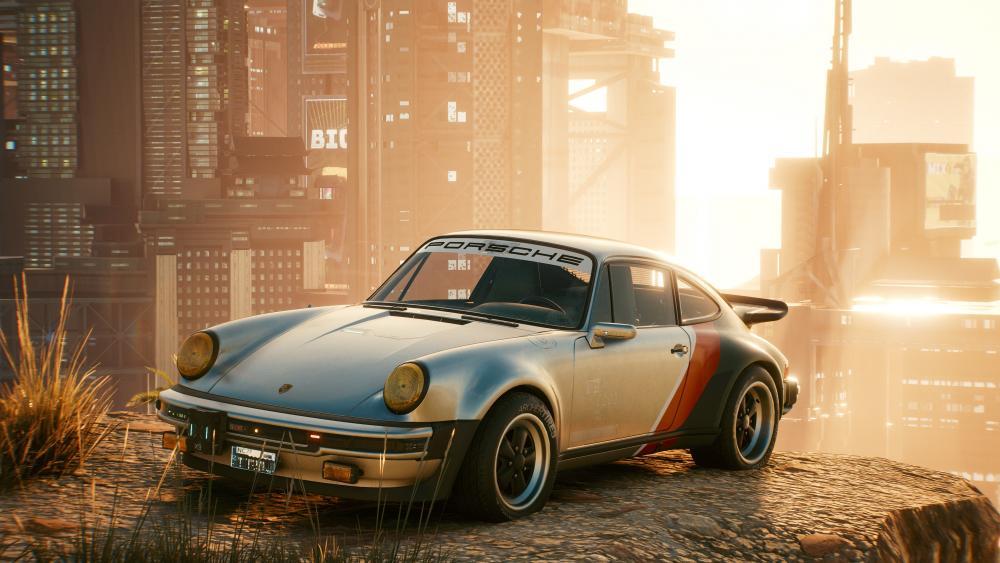 Abandoned Porsche 911 (Old model) wallpaper