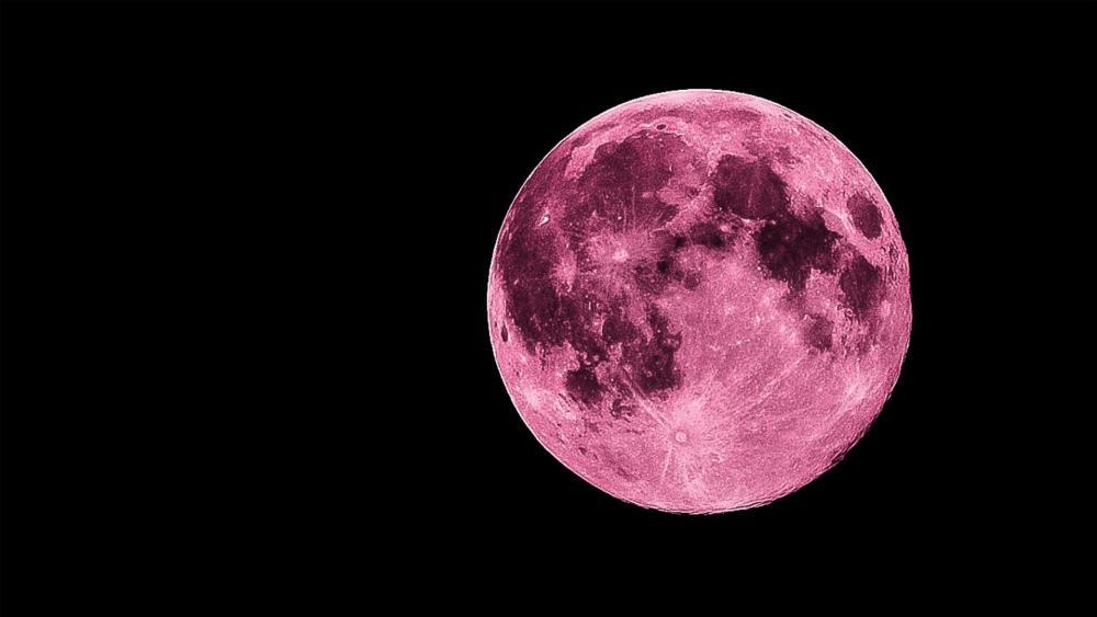 Pink full moon wallpaper