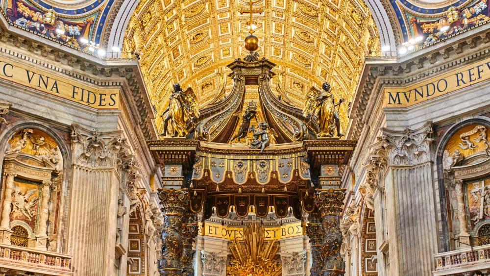St. Peter's Basilica interior wallpaper