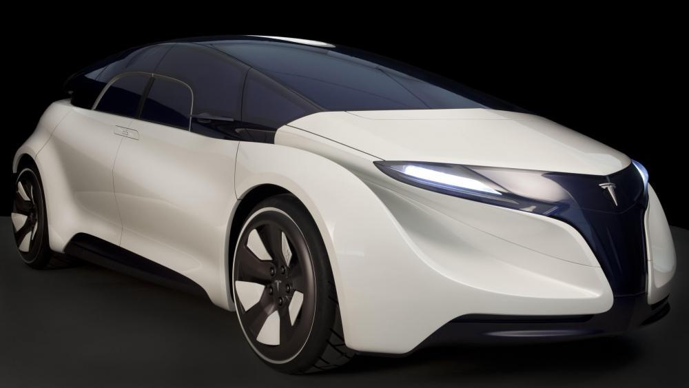 Tesla Eye concept electric car wallpaper
