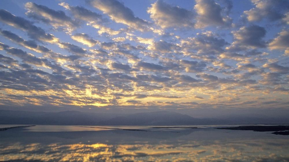 Clouds Over The Dead Sea wallpaper