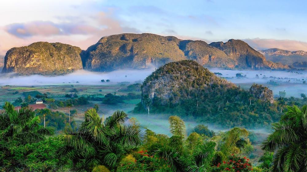 Viñales valley picturesque landscape wallpaper