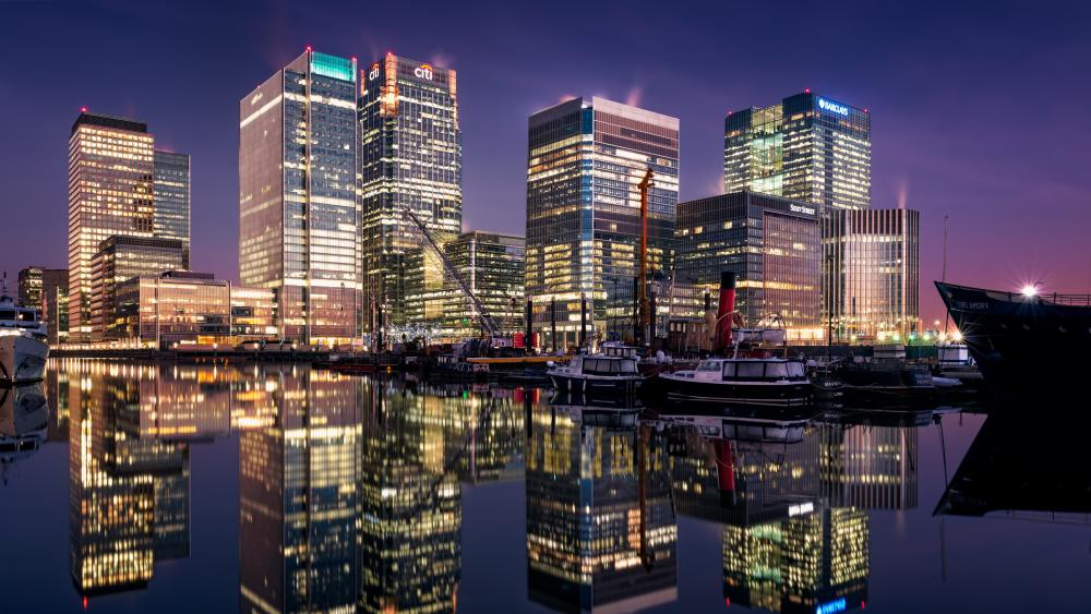 West India Dock (Canary Wharf, London) wallpaper