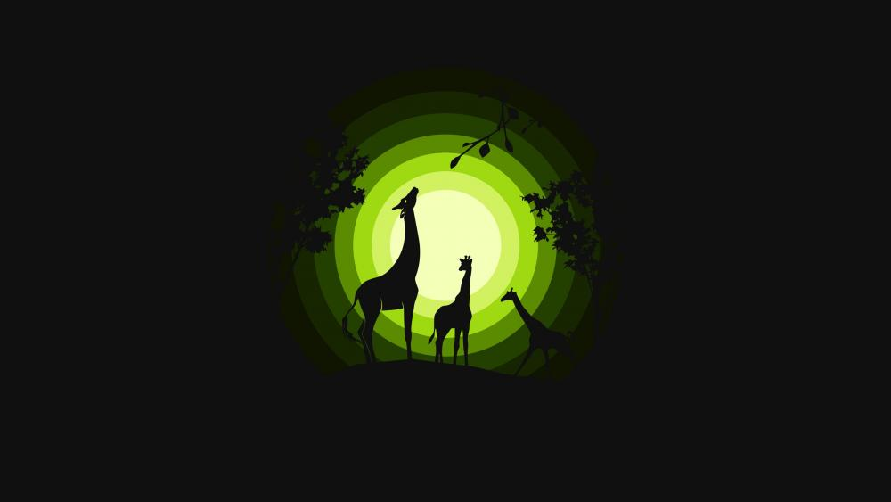 Minimal Giraffes wallpaper