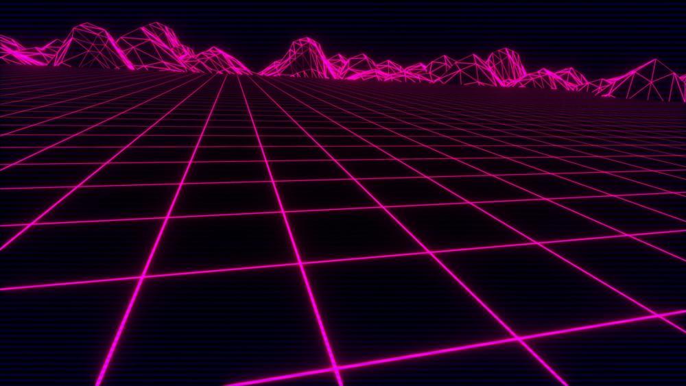 Neon square mesh wallpaper