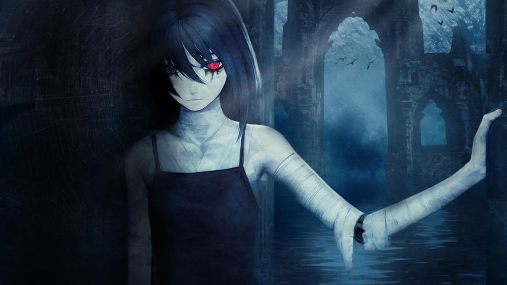 Creepy anime girl wallpaper
