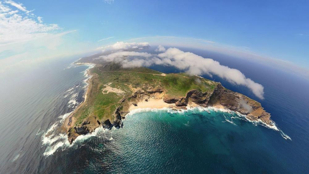 South Africa aerial view wallpaper