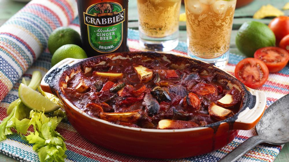 Crabbies mexican chicken and chorizo one pot wallpaper