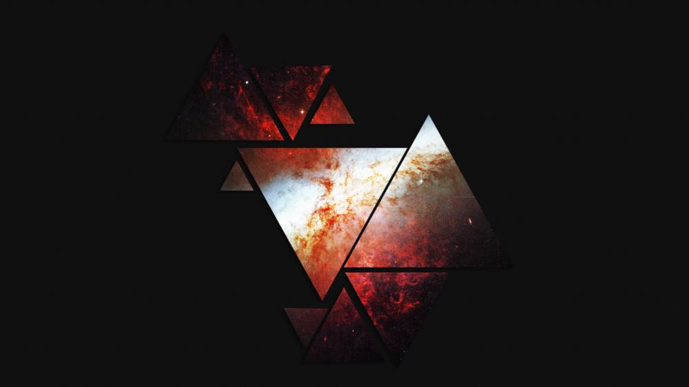 Space triangles wallpaper