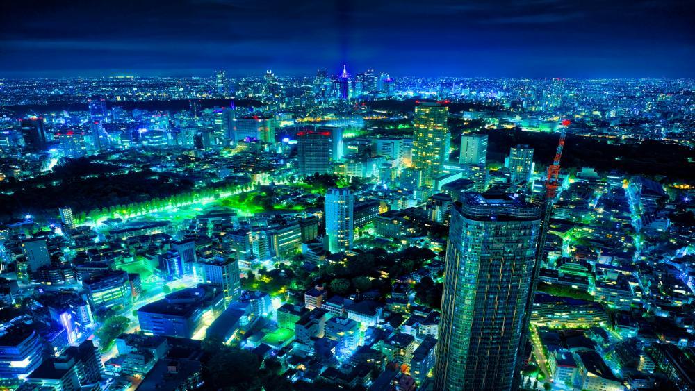 Tokyo by night wallpaper