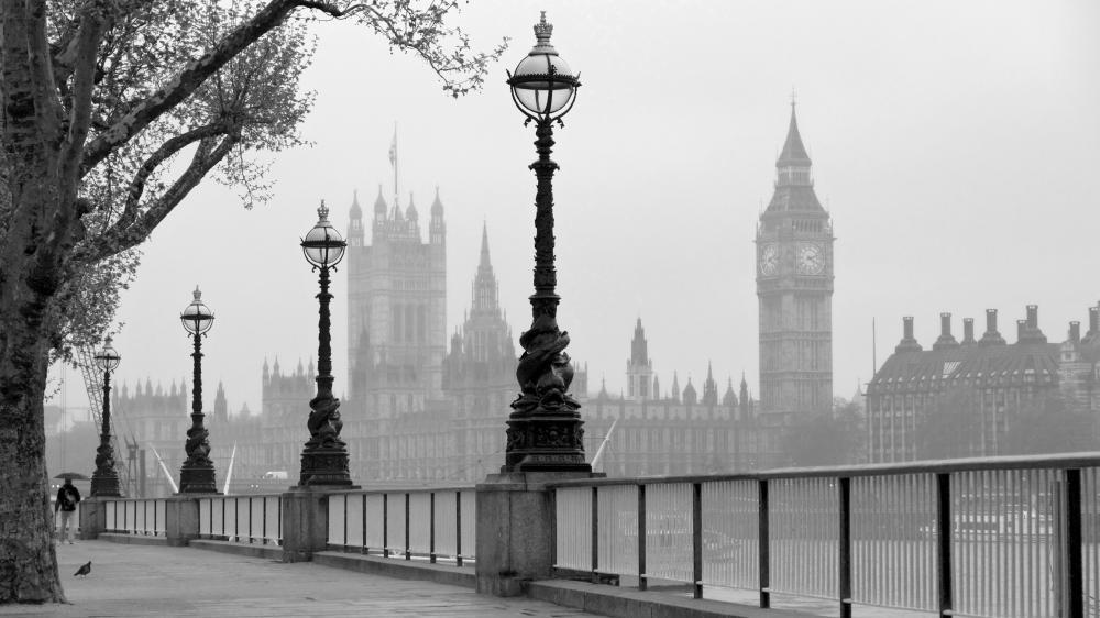 London monochrome photography wallpaper