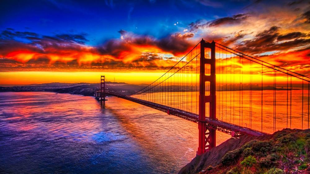 Golden Gate Bridge and San Francisco Bay area wallpaper
