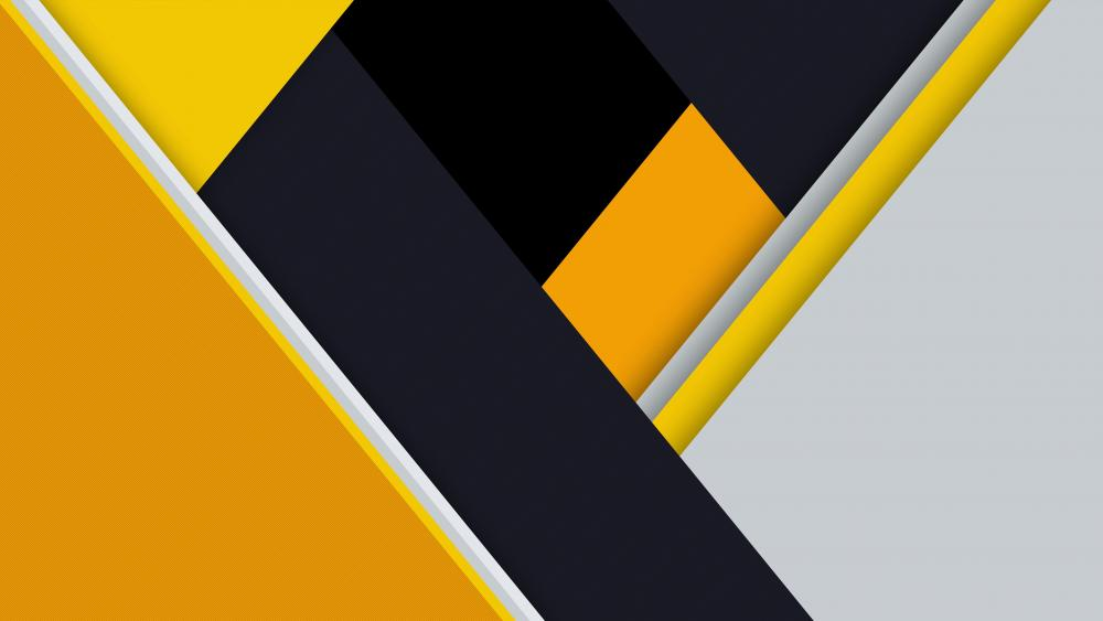 Yellow material design wallpaper