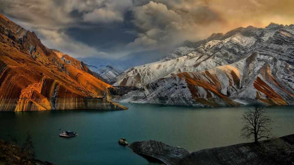 Amir Kabir dam (Iran) wallpaper