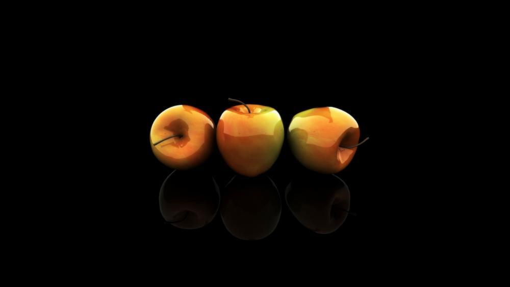 3D apples wallpaper