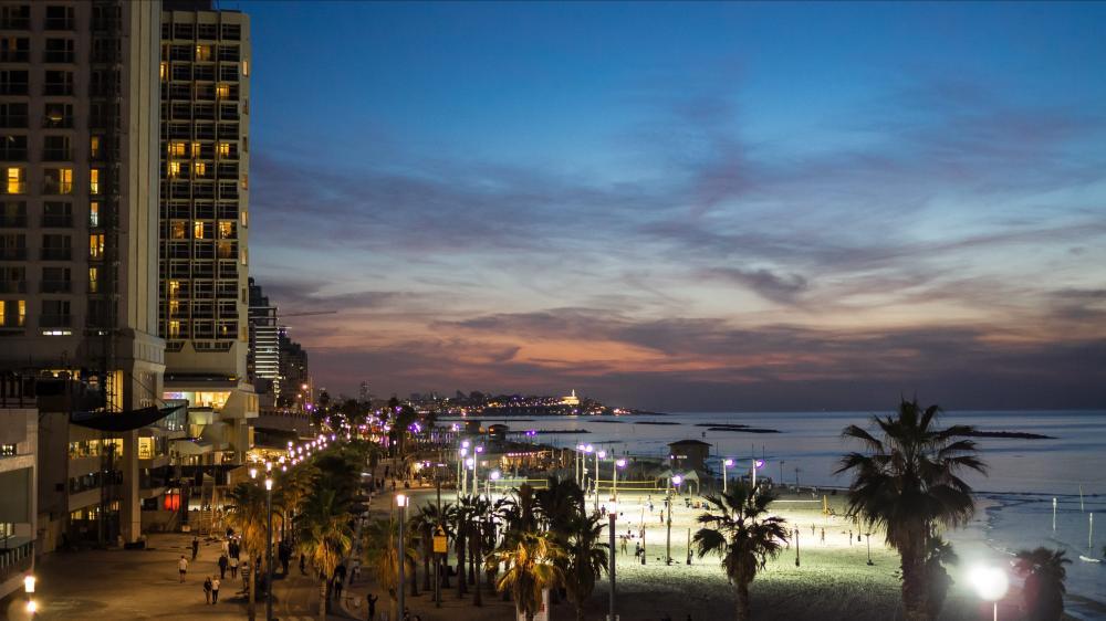 Tel Aviv evening wallpaper