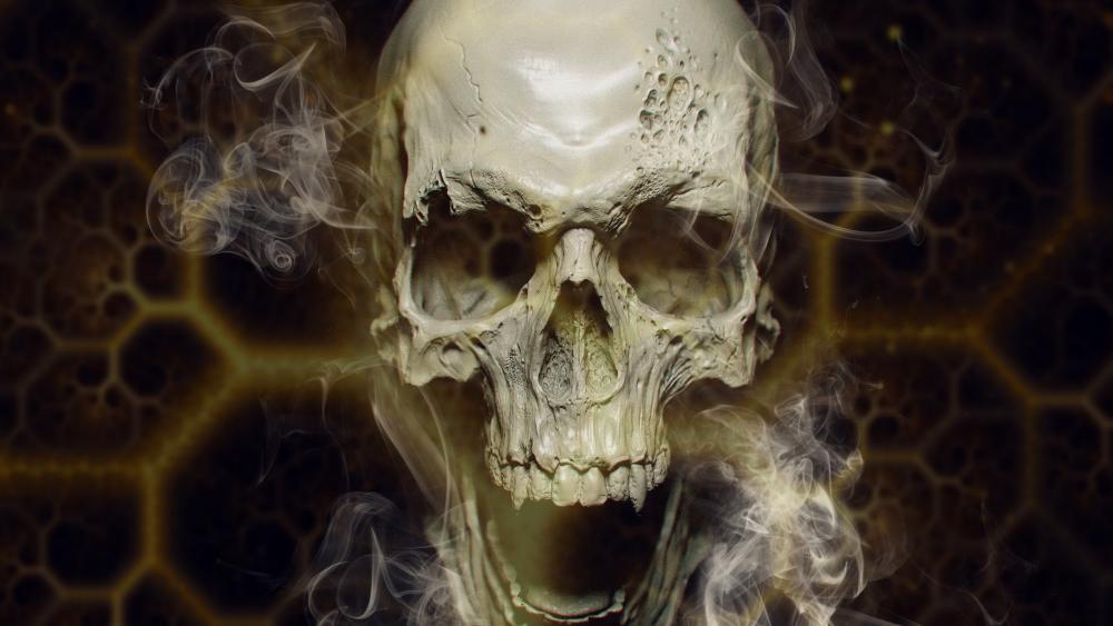 Vampire skull wallpaper