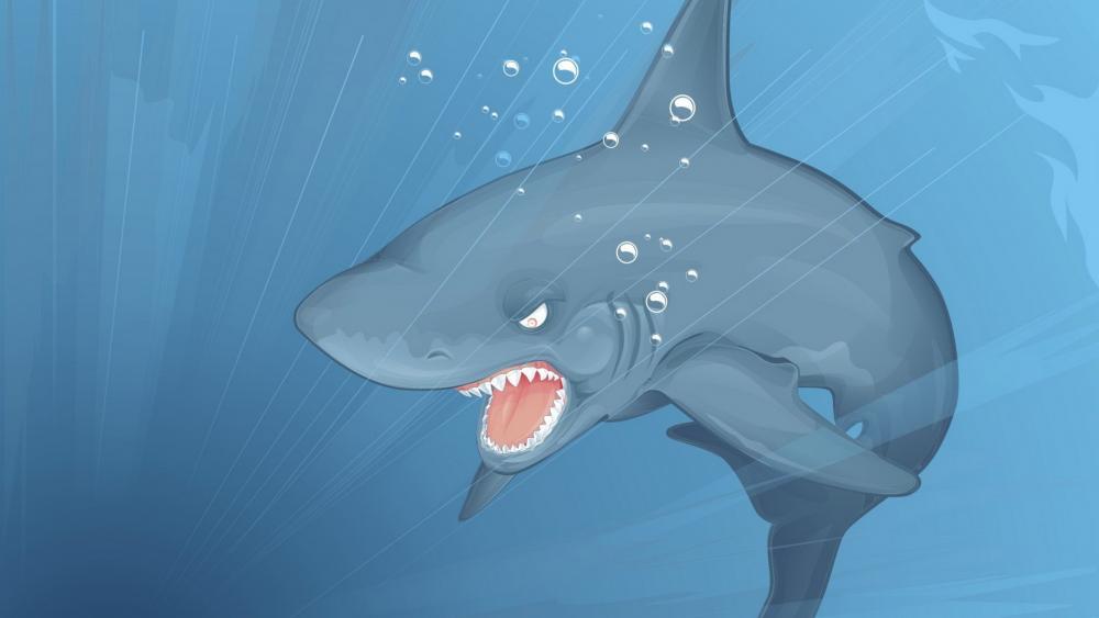Shark cartoon wallpaper