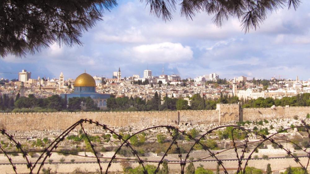 Barbed wire of Jerusalem wallpaper