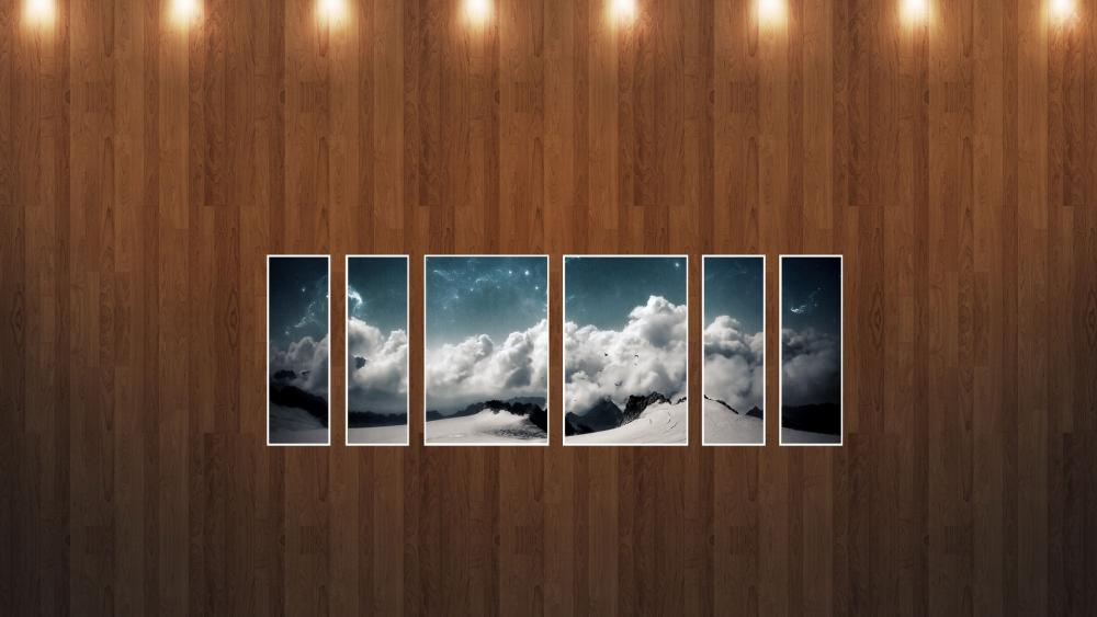 Landscape montage wallpaper