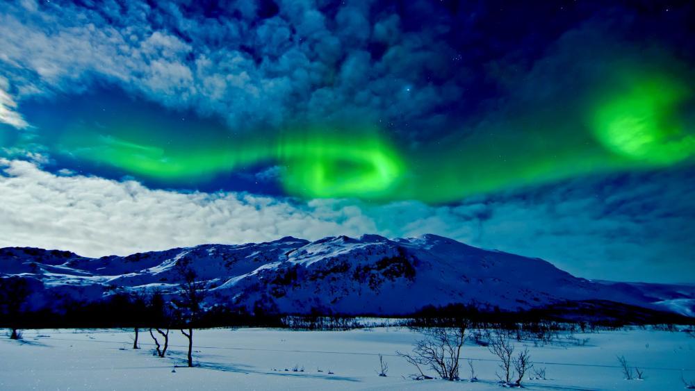 Tromso northern lights (Norway) wallpaper