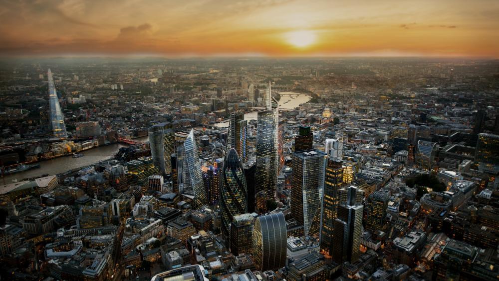 London aerial view wallpaper