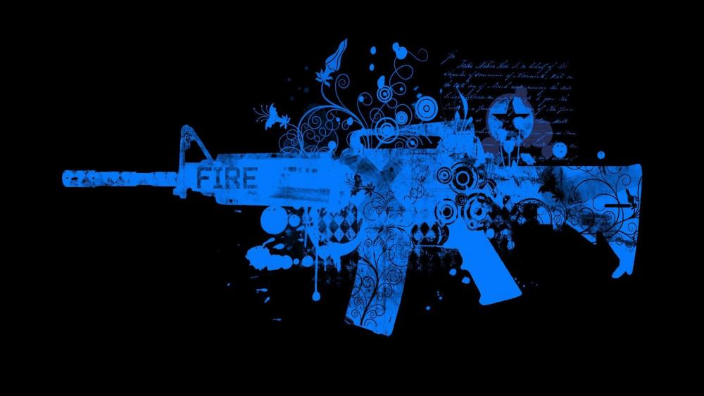 M16 rifle wallpaper