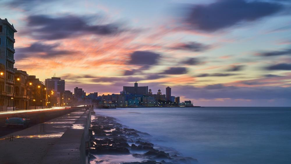 Havana city during dawn wallpaper