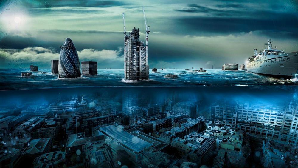 Underwater London wallpaper